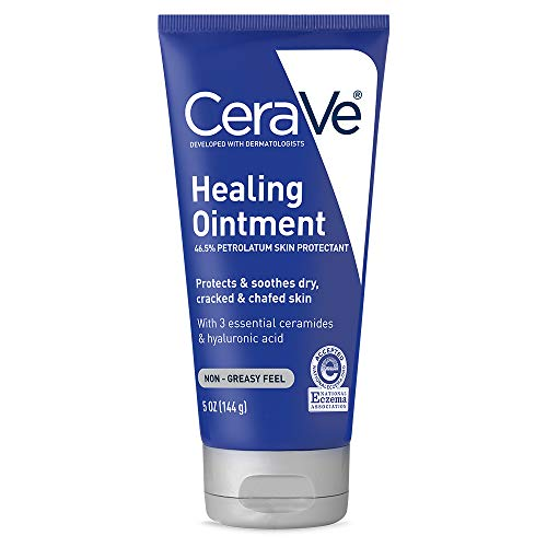 CeraVe Healing Ointment | 5 Ounce | Cracked Skin Repair Skin Protectant with Petrolatum...