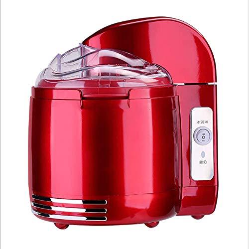 WAWB 1.5L Speiseeisbereiter Elektrische Nach Hause Automatischen Eismaschine, Eiswürfelbereiter Für Sorbet Frozen Yogurt 24.4 * 19.8 * 25.6Cm,Rot