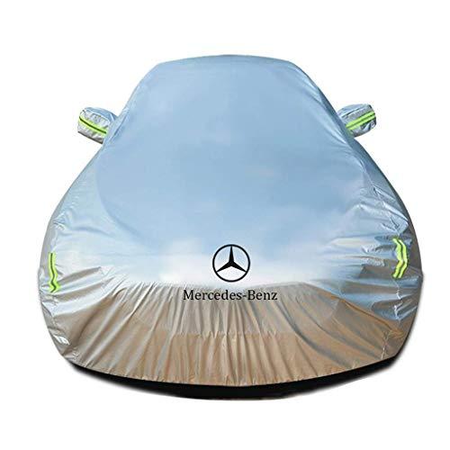 Autoabdeckung Kompatibel mit Mercedes Benz C-Klasse T-Modells Wasserdicht Autoabdeckplane Schutzhülle Abdeckung Plane Autoplane Ganzgarage Vollgarage Plane Autogarage Wasserdicht Autohülle
