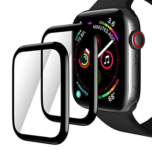 TINICR [2-Piezas] Protector de Pantalla y Láminas para Apple Watch 44 mm Series 4/5/6/SE, 0,2 mm, Ultrafino, Resistente a los Arañazos, Resistente a los Golpes, Ultra Transparente
