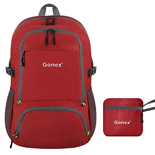Gonex 30L Leichter Faltbarer Rucksack für Männer, Frauen und Kinder - als Reiserucksack, Tagesrucksack, Handgepäck für mehr Stauraum