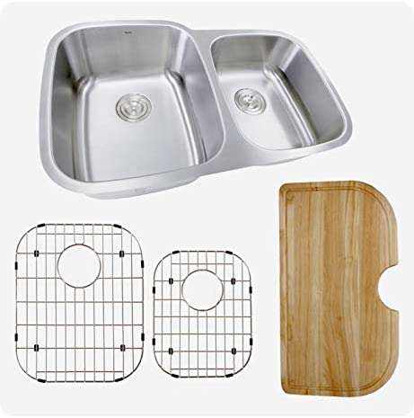 Nantucket Sinks 60 Los Angeles Mall 40 Double Bowl Fort Worth Mall Sink Gauge 16 with Kitchen Cut