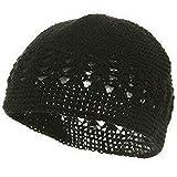 3rd Power Outlet Knit Kufi Hat - Koopy Cap - Crochet Beanie (Black)