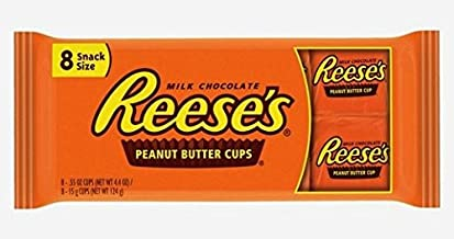 Reese's Snack Size Peanut Butter Cups Milk Chocolate - 8 Count (Pack of 3)