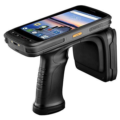【2D Barcode Scanner 】UHF RFID Android MUNBYN Lecteur mobile sans fil avec poignée pistolet, Zebra 2D QR Imager Reader pour livraison entrepôt expédition WMS