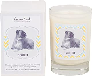 Aroma Paws Breed Candle Glass, 5-Ounce, Boxer