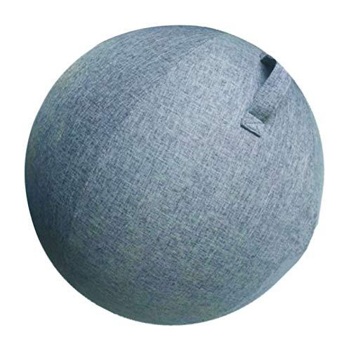 T TOOYFUL rutschfeste Yogaball Cover Bezug für Sitzball Fitnessball Yogaball Büroball Gymnastikball - Blau, 65cm