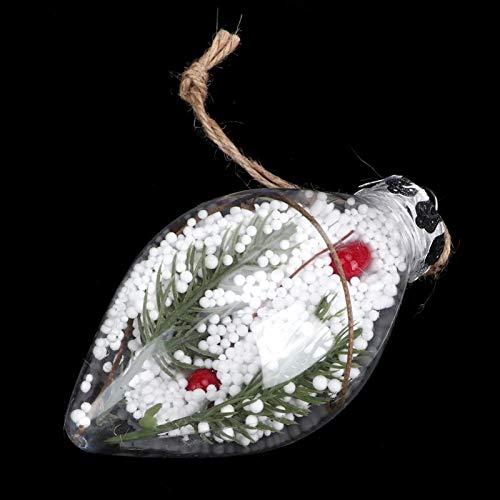 BOLORAMO Bola de Adorno de árbol de Navidad rellenable, Bolas de Navidad Transparentes de Dos Puntas, escaparates de decoración del hogar para Embalaje de Regalo para Bodas(771D)