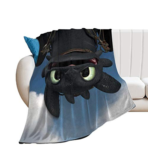 Custom made How To Train Your Dragon Ultra-Soft Micro Fleece Blanket Lovely Throw Blanket Fit Couch Bed Sofa for Adult Child Warm Throw Blanket 150 x 130 cm