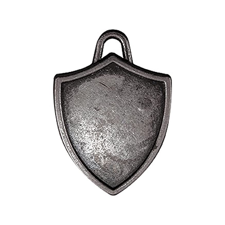 Shield Charms by Tim Holtz Idea-ology, Pack of 5, Antique Nickel Finish, TH93212
