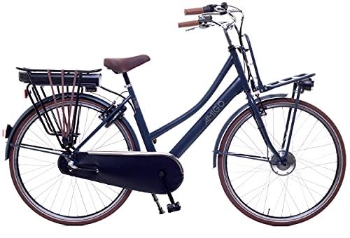 Amigo E-Pulse - Elektrofahrrad für Damen - E-Bike 28 Zoll - Damenfahrrad mit Shimano 3-Gang - Geeignet ab 170-175 cm - Blau