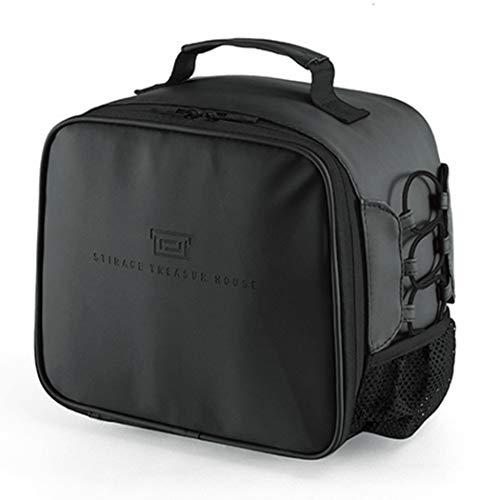 Bageek Lunch Bag Spatwaterdichte lunch-boodschappentas picknick-koeltas voor de camping work school zwart