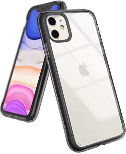 Ringke Fusion Diseñado para Funda iPhone 11, Espalda Transparente Prevención de Golpes Parachoque TPU Carcasa iPhone 11 6.1 Pulgadas (2019) - Smoke Black
