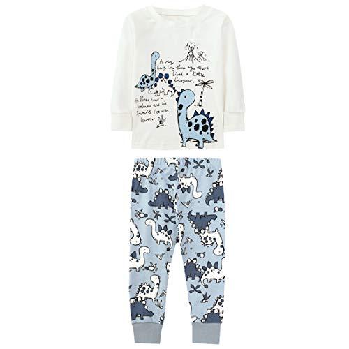SAMGU Pijama para Niños Algodón Dos Piezas Dinosaurio Ropa Pantalón y Camiseta de Manga Larga...