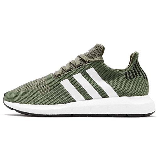 Adidas Swift Run W, Zapatillas de Deporte para Mujer, Verde (Verbas/Ftwbla/Negbás 000), 37 1/3 EU