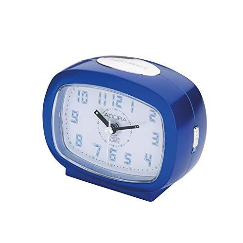 Adora Wecker mit Leuchtziffern auf Knopfdruck A40907 Blau