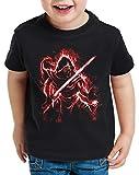 A.N.T. Knight of Ren T-Shirt für Kinder Kylo letzten Jedi Ritter Ben Solo, Größe:128
