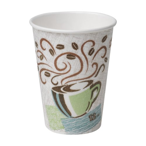 Dixie PerfecTouch 12 oz. Insulated Paper Hot Coffee Cup by GP PRO (Georgia-Pacific), Coffee Haze, 5342CDSBP, 160 Cups Per Case