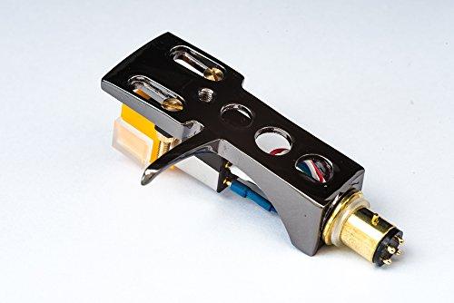Spiegel Titan beschichtet Schale, Halter mit AT Tonabnehmer, Nadel für TELEFUNKEN S300D, S100B, TT-100, TS-950, RS 30, S150B, CS 20, S200B, S-800, TT100EM, CS 10