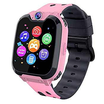 Kids Phone Smartwatch with Games & MP3 Player - 1.54 inch Touch Screen Watch Phone 2 Way Call Music Player Game Funny Camera Alarm Clock Children School Gift for 3-10 Years Old Boys Girls Pink