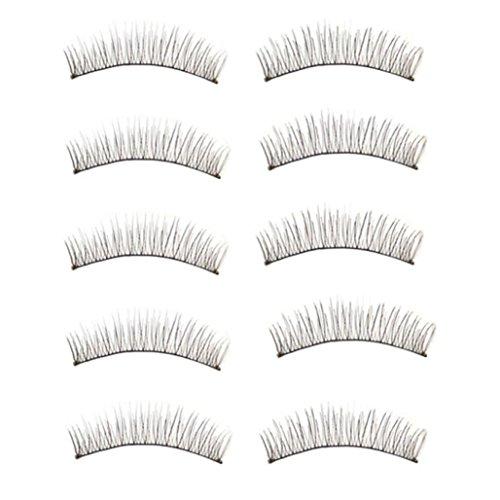 Grande vente! Fulltime® 10 paires de long Faux épais souple main Extensions Faux cils Maquillage