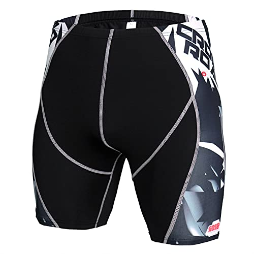 ZYOONG Traje deportivo de compresión para hombre, ropa deportiva, manga corta, para correr, correr, fitness, color KD 50, talla L:
