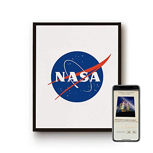 AstroReality: NASA Framed AR Wall Art, Interactive Canvas, Space Themed Home Decor, Paired with Augmented Reality App, 18x14.5x1.5 inches, Ready to Hang