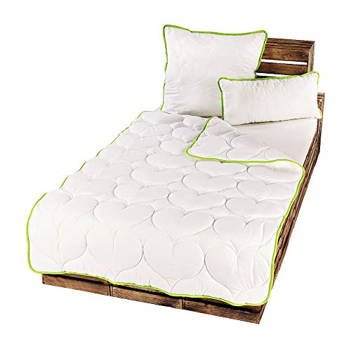 Greenfirst 2er Pack Microfaser Steppdecke Bettdecke Decke Steppbett Kissen Größen wählbar, Größe:2X 155x220 cm