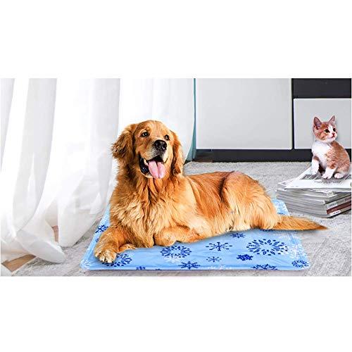 Kindax Tappetino Refrigerante per Cani 90 * 60cm, Tappeto per Animali in Gel Autorinfrescante Non tossico, Pad di Raffreddamento per Cani, Gatti e Animali Domestici