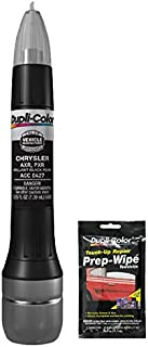 Dupli-Color ACC0427 Brilliant Black Pearl Exact-Match Scratch Fix All-in-1 Touch-Up Paint for Chrysler Vehicles (PXR, AXR) Bundle with Prep Wipe Towelette (2 Items)