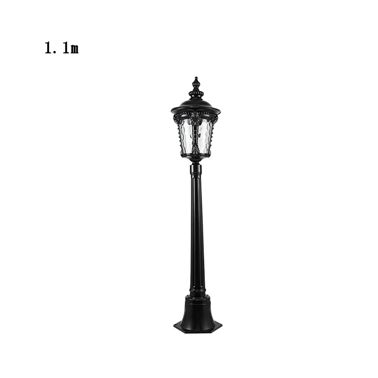 Meidn Luxury Colonial Outdoor High Pole Pillar Post Light 1-Light Traditional Garden Glass Lantern Column Lamp Water-Proof Cast Aluminum Housing Villa Patio Pool Landscape E26/E27 Lighting acaiaxduyqttj397