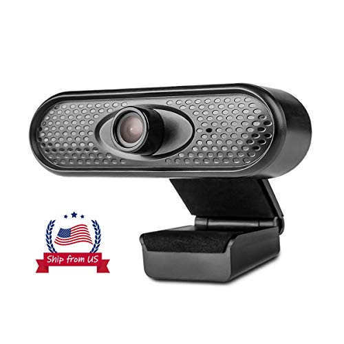 FHD 1080P Webcam Pro, Monja 5 Megapixel Streaming Web Camera with Noise Reduction Microphone, Widescreen USB Computer Camera for PC Mac Laptop Desktop Video Calling Conferencing Recording (Real 1080P)