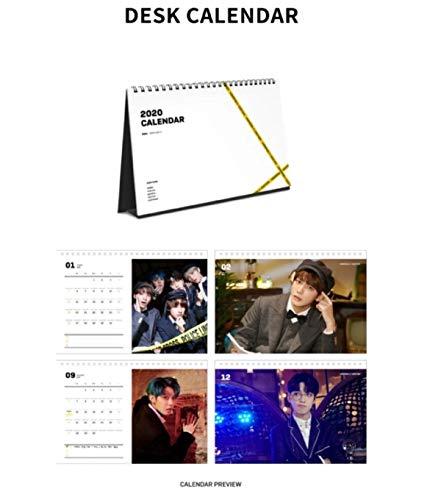 KQ ATEEZ ATEEZ 2020 Seasons Greetings Calendar Set+Making DVD+Double Side Extra Photocards Set