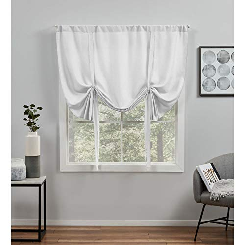 Exclusive Home Curtains Loha Light Filtering Rod Pocket Tie Up Shade, 54X63, Winter