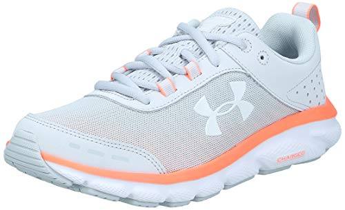 Under Armour womens Charged Assert 8 Running Shoe, Halo Gray (101 White, 9.5 US