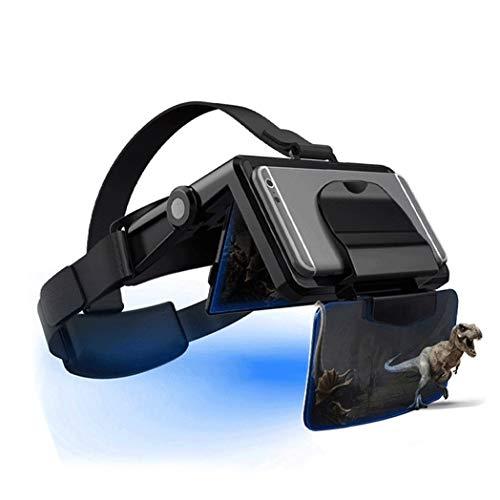 JYMYGS VR Brille, HD 3D Virtual Reality Brille, für 3D Film und Spiele, Geeignet 4,0-6,0 Zoll Smartphone Handy für iPhone SE 6/6s/7/8/X/XS, Samsung Galaxy S6/S7/S8/S9, Huawei p10/p20. N038JL