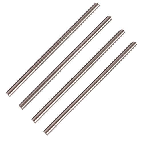 Varilla de acero redonda de 1 mm, herramienta de acero HSS de 100 mm de largo, para taladros de engranajes de eje, taladro, eje miniatura, pasador cilíndrico, herramienta de manualidades, 20 unidades