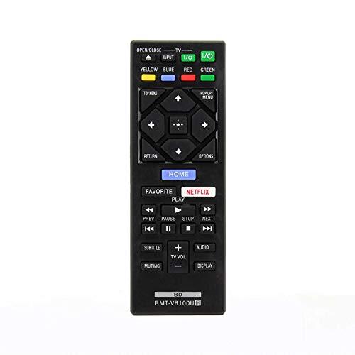 121AV RMT-VB201U Ersatz-Fernbedienung für Sony Blu-ray BDP-S1700 BDP-S6700 BDP-S3700 BDP-BX370 DVD-Player (kein Bluetooth-Taste)