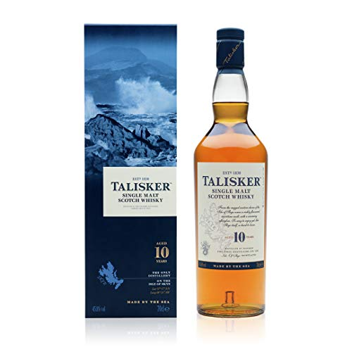 Talisker 10 Year Old Single Malt Scotch Whisky, 70 cl with Gift Box