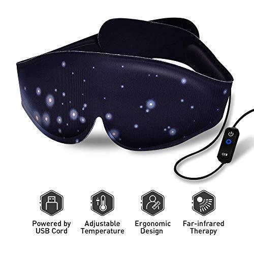Heated Eye Mask - USB Dry Eye Mask, Electric Heating Eye Mask, Far-Infrared Therapy, Adjustable...
