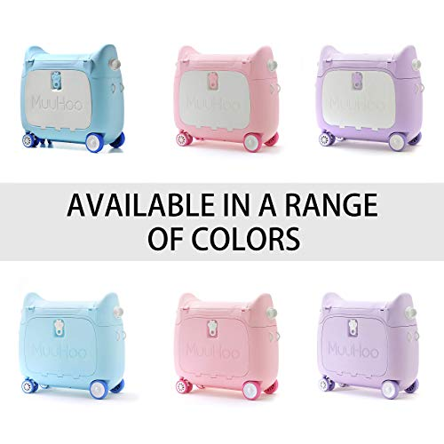 Travel Luggage /& Storage Bag Pink IQ Toys Ride N Roll Suitcase