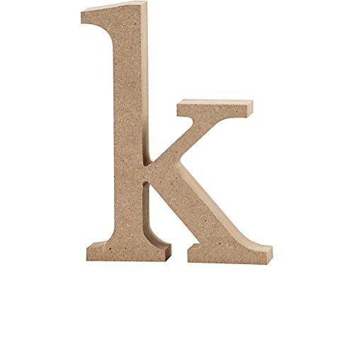 Lettre, h: 12,7 cm, MDF, k, 1 pièce