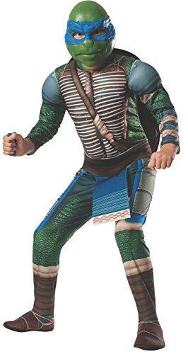 Ninja Turtles Leonardo Deluxe Kostüm für Kinder mit Polsterungen (140-152)