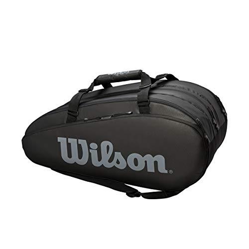 Wilson Tour 3 Comp Bolsa de tenis, para hasta 15 raquetas, unisex, negro