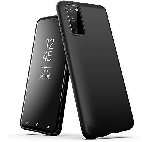 wsky Hülle Kompatibel mit Samsung Galaxy S20 FE Schwarz, Ultra Dünn Silikon Handyhülle, Anti-Fingerabdruck Matt Hülle, Stoßfest Schutzhülle Kompatibel mit Samsung S20 FE