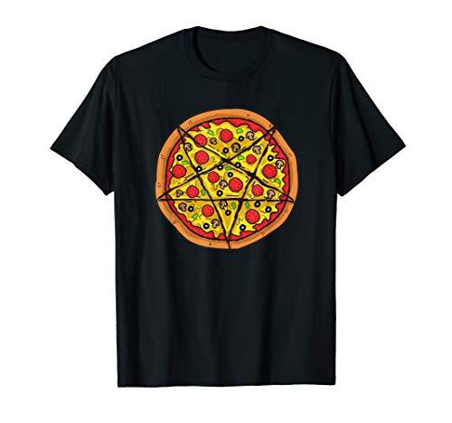 Pizza Pentagram Shirt Occult Satanic Lucifer Gift...