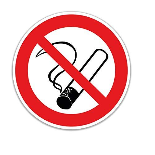 15 Stück Rauchen verboten Aufkleber Ø 7cm rund mit UV Schutz Warnzeichen für Außen-und Innenbereich Verbotszeichen Rauchen Nicht erlaubt Zigaretten Nicht gestattet von STROBO