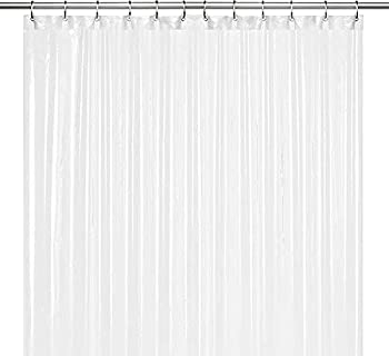 LiBa PEVA 8G Bathroom Shower Curtain Liner 72  W x 72  H Frosted 8G Heavy Duty Waterproof Shower Curtain Liner
