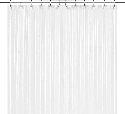 """LiBa PEVA 8G Bathroom Shower Curtain Liner, 72"""" W x 72"""" H, Frosted, 8G Heavy Duty Waterproof Shower Curtain Liner"""