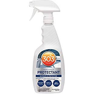 303 (30306) Marine UV Protectant Spray for Vinyl, Plastic, Rubber, Fiberglass, Leather & More - Dust and Dirt Repellant - Non-Toxic, Matte Finish, 32 fl. Oz:Dailyvideo